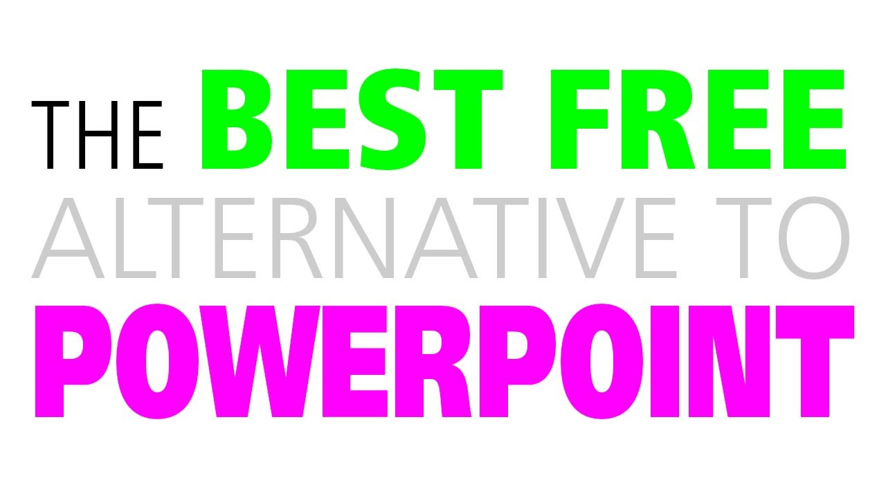 best free alternative to powerpoint adobe slate youtube