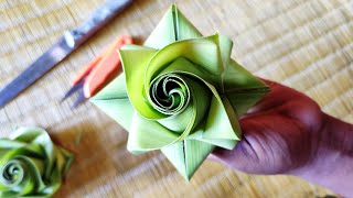 How to make beautiful palm flower (coconut leaf)