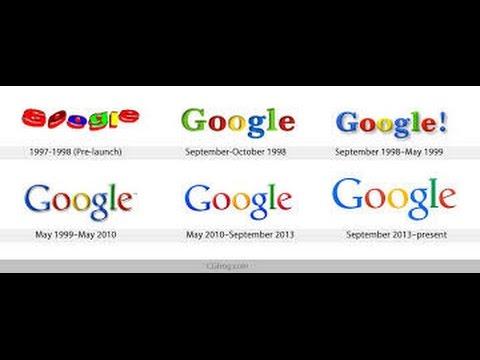 Google Logo History 1998 to 2015  Video || Google's New Logo 2015