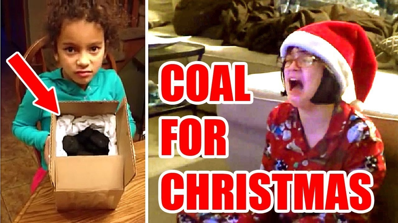 Kids Getting COAL For Christmas (part 2) | Funny Compilation - YouTube