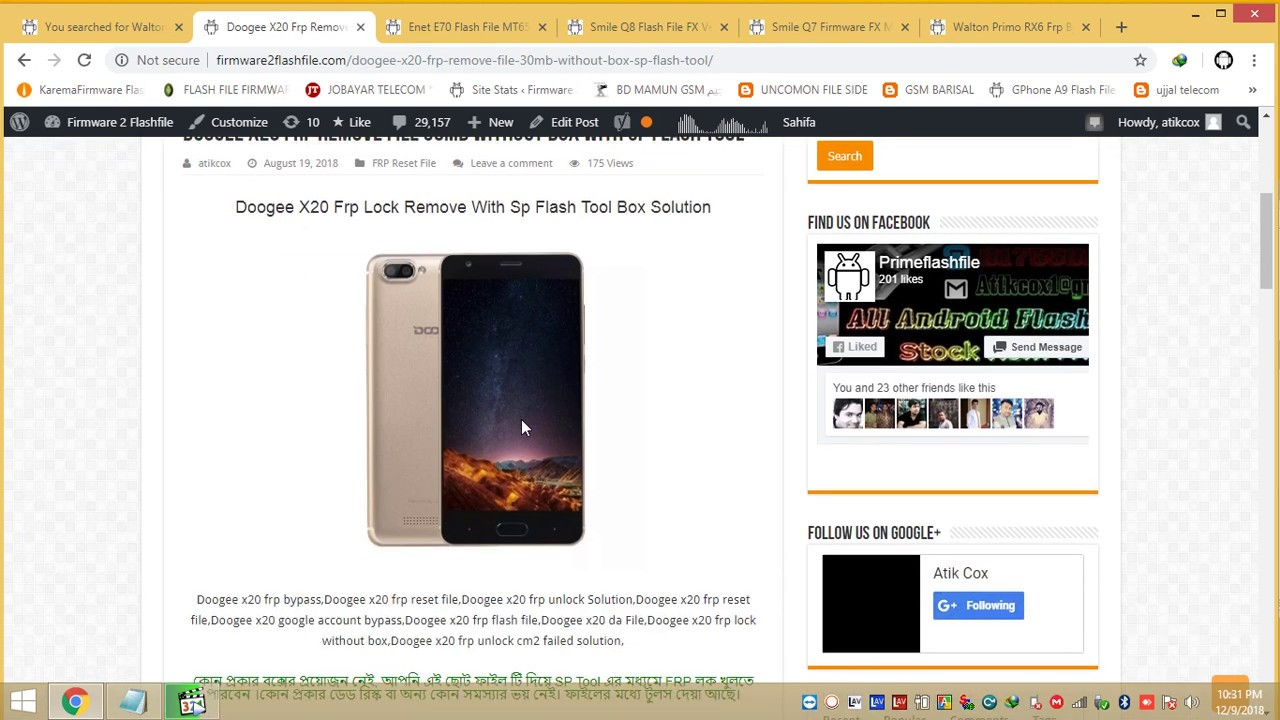 Doogee X20 FRP Bypass File 30MB Only Without Solution Via Sp Flash Tool