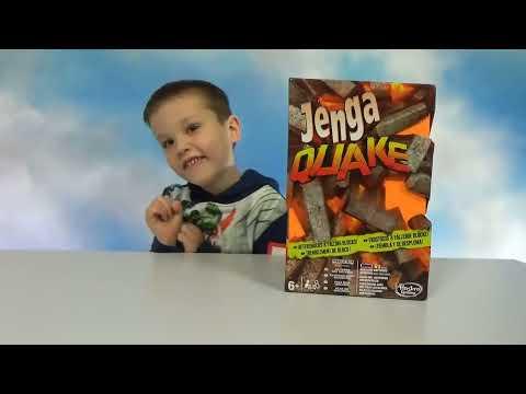 Играем в игру Дженга Квейк строим башню Jenga Quake unboxing and play