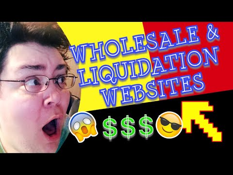 List of Wholesale & Liquidation Websites to Buy Inventory from to Resell on Amazon, eBay, online