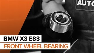 How to replace Front wheel bearing on BMW X3 E83 TUTORIAL | AUTODOC
