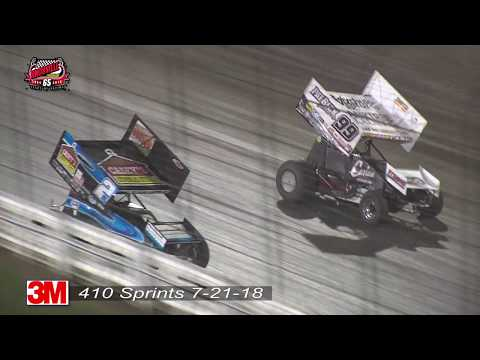 Knoxville Raceway 410 Highlights - July 21, 2018
