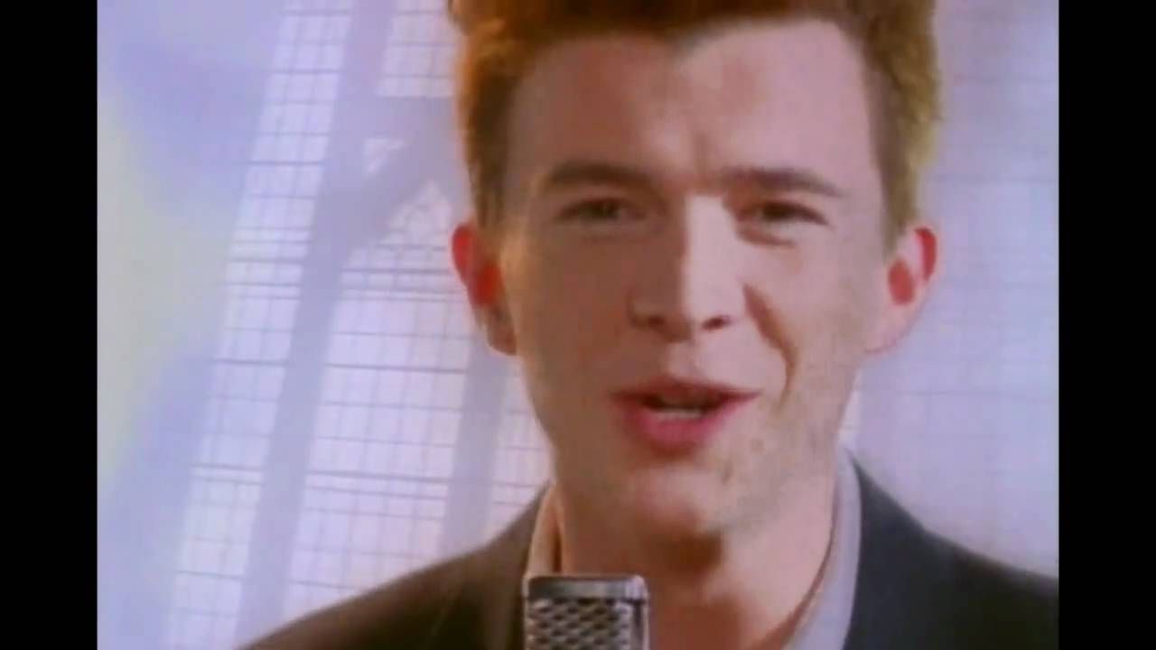 rick astley never gonna give you up high pitched youtube