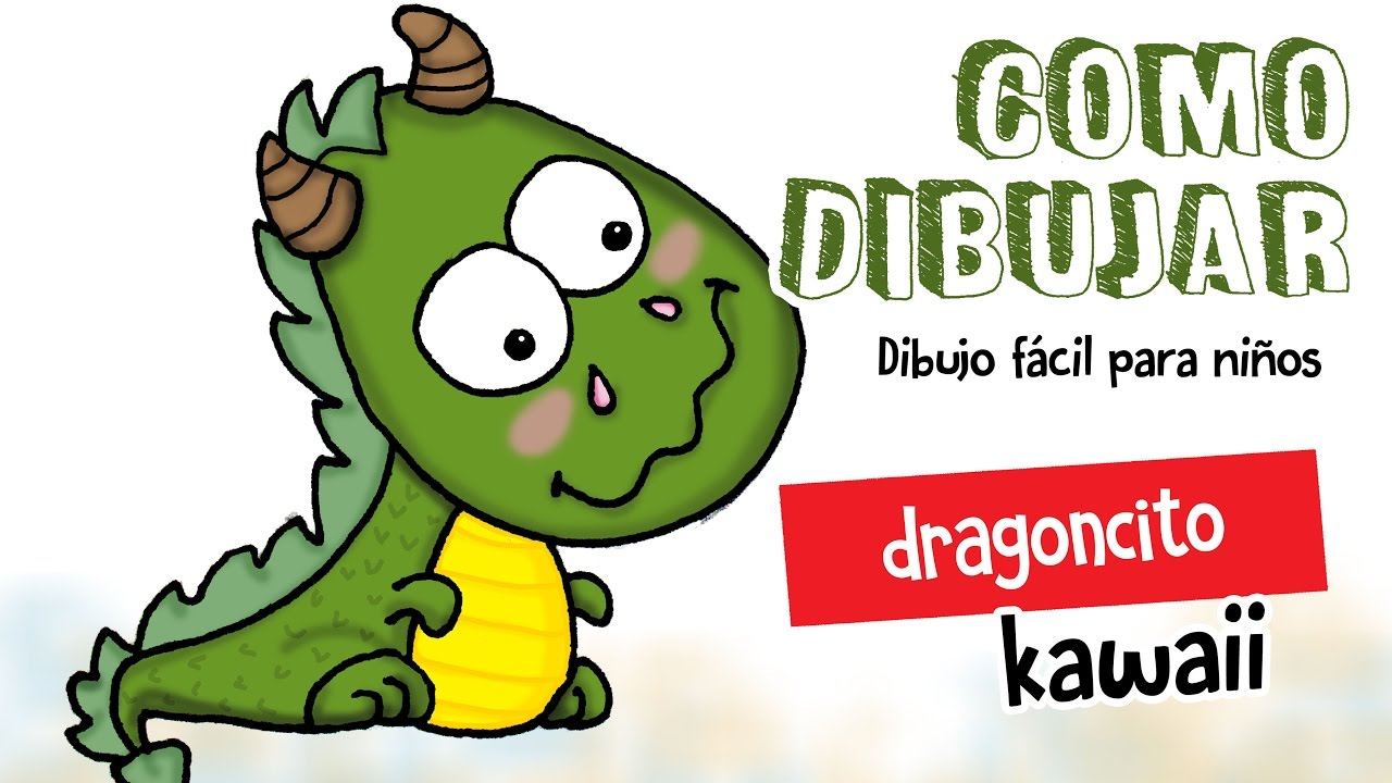 Como dibujar dragon kawaii dibujo facil para ni os youtube for Silla facil de dibujar
