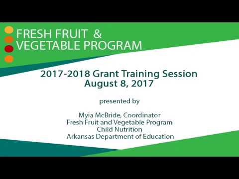 Fresh Fruit and Vegetable Program Grant Training