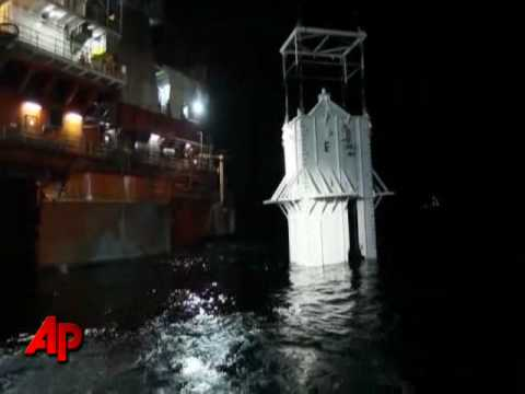 Exclusive Video: Oil Containment Box Lowered