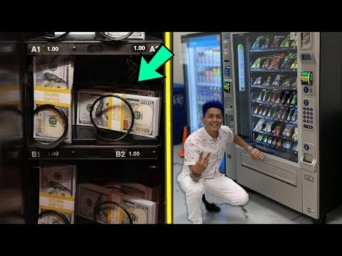 This Vending Machine SELLS Money!! ($100,000)