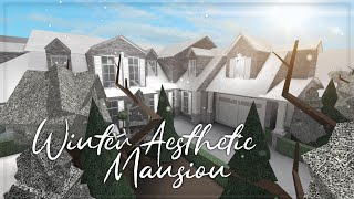 Roblox || Welcome to Bloxburg: Winter Aesthetic Mansion (Full Build) || Speedbuild