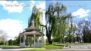 sony 4K FDR-AX100 Vs Sony Nex-VG30 - Video comparison