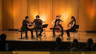 JOSEPH JOACHIM Chamber Music Competition: Quartet Berlin Tokyo plays Schubert String Quartet No. 12