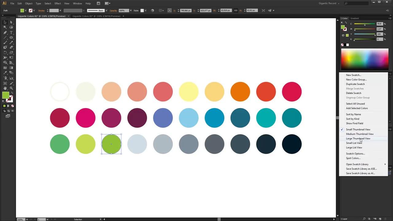 Custom Color Swatches in Adobe Illustrator + FREE Gigantic ...