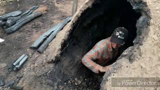 Primitive Technology Reusable charcoal mound