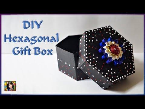 DIY Hexagonal Gift Box || Easy Paper Gift Box || Hexagon