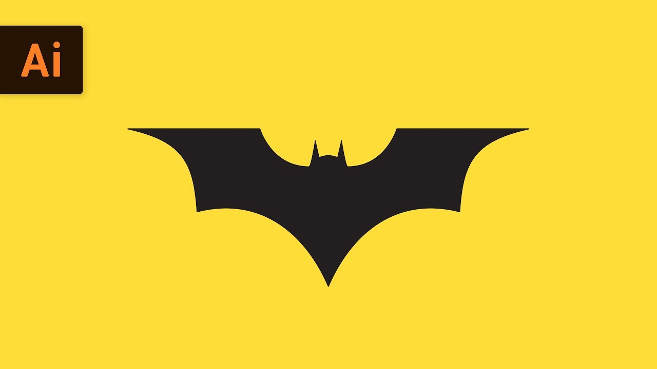 How To Draw The Batman Logo Illustrator Tutorial Youtube