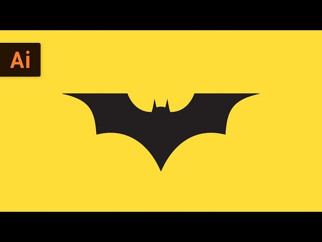 How to Draw the Batman Logo | Illustrator Tutorial