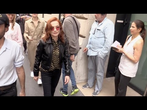 Isabelle Huppert attending the 2019 Schiaparelli Haute Couture fashion show in Paris