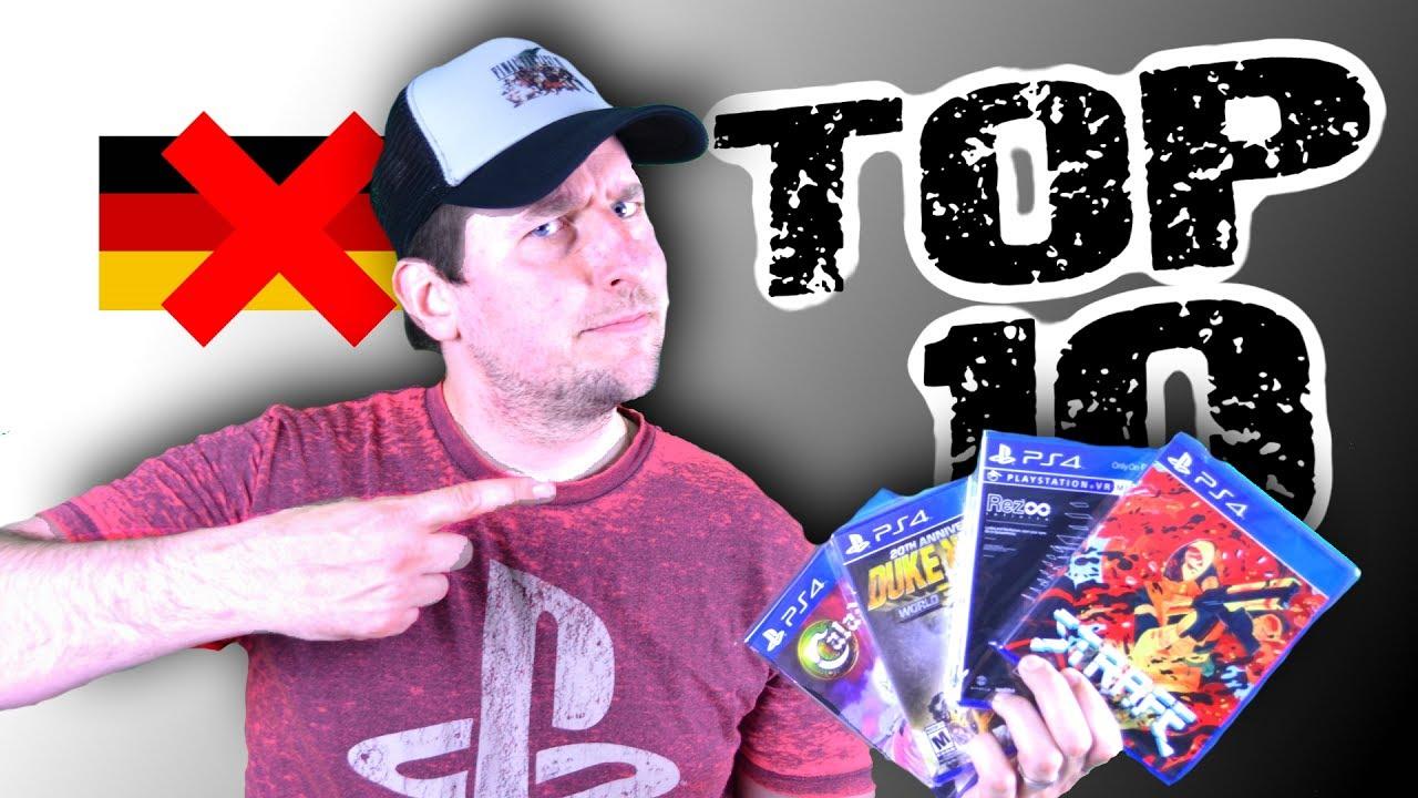 10 SELTENE PS4 Spiele, die NICHT in Deutschland erschienen sind