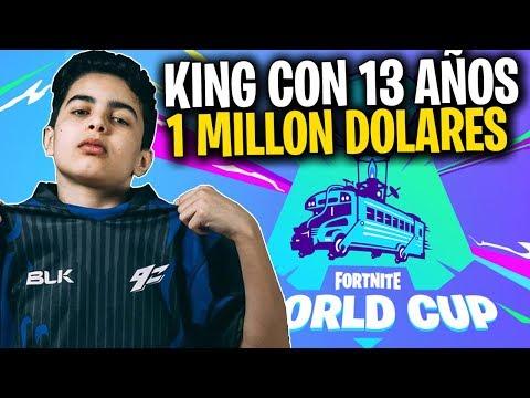 KING LA PARTIDA QUE LE GAN CASI 1 MILLON DE DOLARES! || WORLD CUP FORNITE || PARTIDA FINAL
