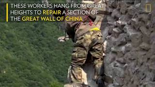 Repairing the Great Wall of China Is a Dangerous Job National Geographic