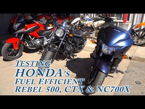 Riding Review: HONDA's fuel efficient Rebel 500, CTX & NC700X - Shot w. SONY's RX100 V & AS300