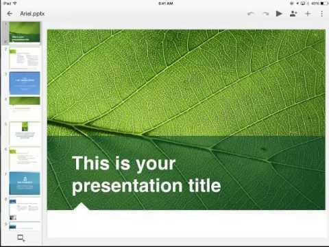 Google Slides Templates on the iPad - YouTube