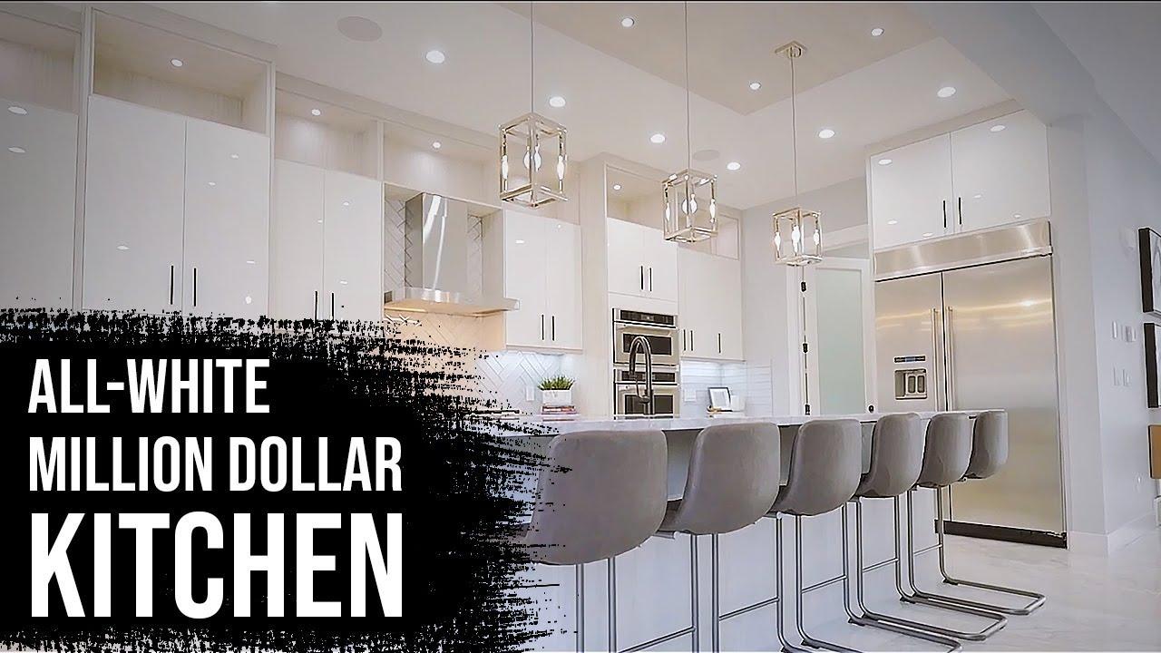 What A Million Dollar White Kitchen Looks Like Youtube
