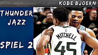 OKC Thunder gegen Jazz Spiel 2 (NBA Playoff Analyse) - KobeBjoern uncut
