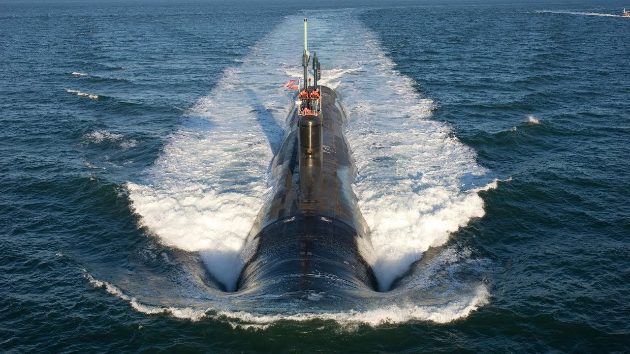 Новейшая подводная лодка ВМС США «Вирджиния» - YouTube