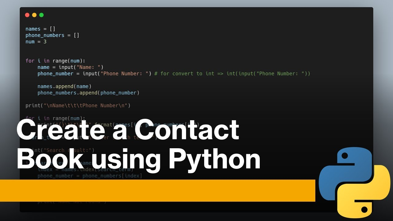 Contacts Book with Python