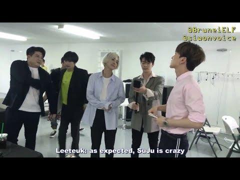 [ENGSUB] 180406 SMTOWN in Dubai !t Live – Super Junior waiting room