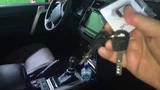 Toyota Land Cruiser Prado 150 замок на капот. Механический, дополнительный противоугонный блокиратор
