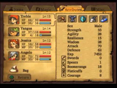 Dragon Quest 8 statistics