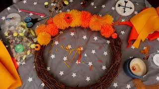 Making An Autumn Wreath ♥ Good Evening, World! #180