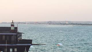 Чёрное море Анапы закат и чайки