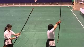 中日本弓道近的選手権大会一般女子の部宮崎選手優勝の瞬間