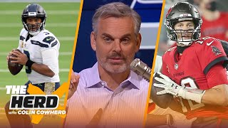 Brady & Arians don't fit, talks Seattle defense & caliber of Russ' Seahawks - Colin | NFL | THE HERD
