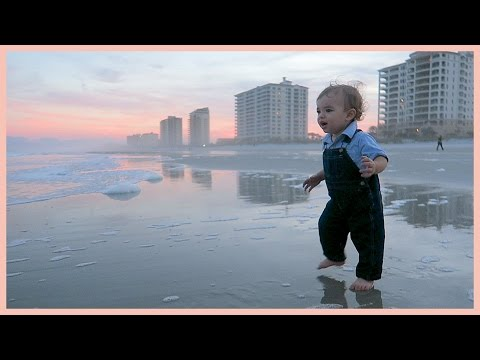 BABY OVERWHELMED BY FIRST BEACH STROLL! | Christmas Vacation Day 7