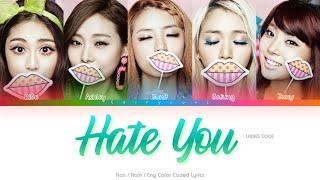 Ladies' Code (레이디스 코드) Hate You Color Coded Lyrics (Han/Rom/…