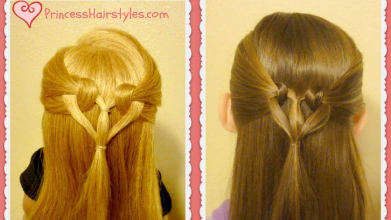 Heart Knot Hairstyle Tutorial Youtube