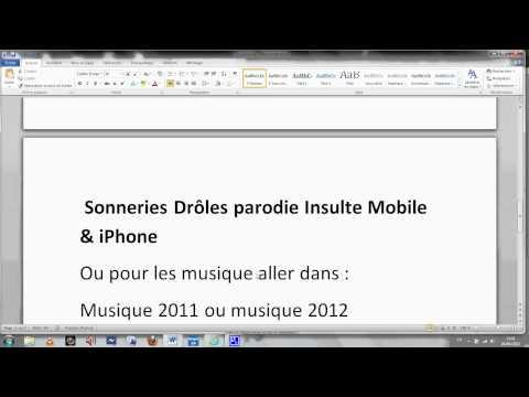 Comment Télécharger Des Sonneries Mobile Ou Iphone/ipod/ipad