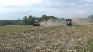 Kukurydza na dwie Sieczkarnie !! Duża Akcja. Zapraszam do oglądania 2019