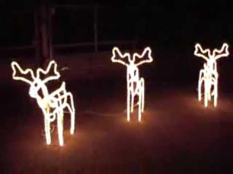 Renna Di Babbo Natale Luminosa Youtube