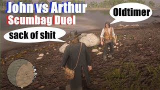 RDR2 Scumbag Arthur vs John Funny Quotes - Red Dead Redemption 2
