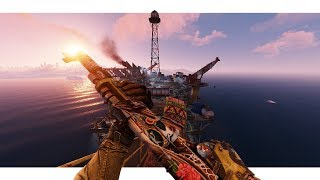 Rust - Taking LARGE Oil Rig & Getting A Traumatic Experience Instead!