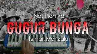 Gugur Bunga ( Not Pianika ) Lagu Nasional Cipt. Ismail Marzuki || Sedih