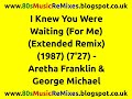 I Knew You Were Waiting (For Me) (Extended Remix) - Aretha Franklin & George Michael | 80s Pop Hits video & mp3