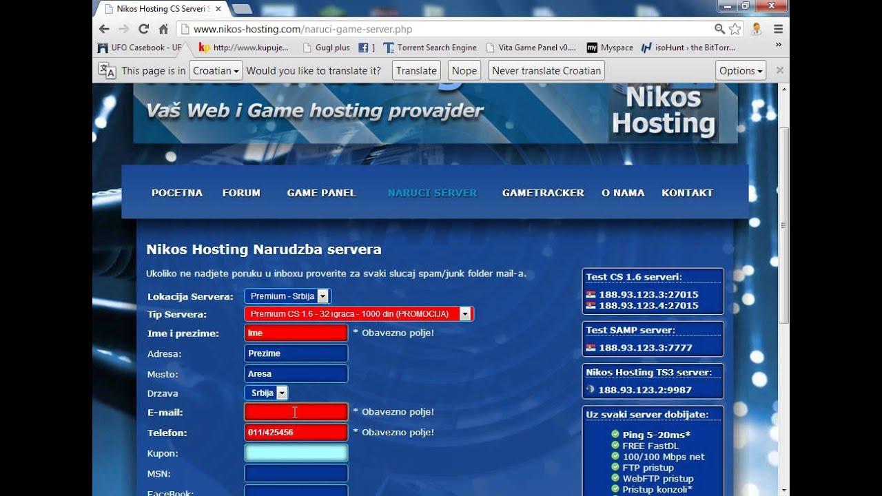 Как купить хостинг cs 1.6 бесплатное и простое создание сайтов